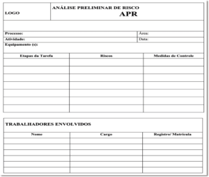 Exemplo de Análise Preliminar de Risco - APR
